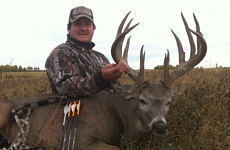 whitetail deer bow hunts alberta canada